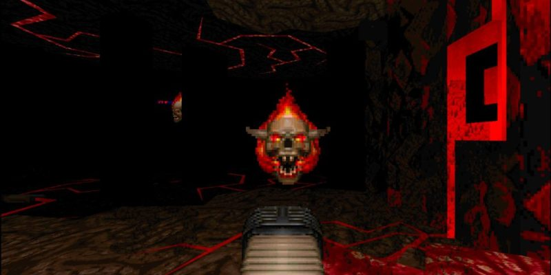 Hra na PC Doom 60 fps
