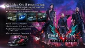 Co obsahuje Deluxe Edice hry Devil May Cry 5