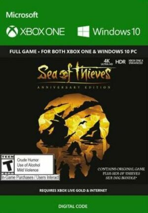 Elektronická licence PC hry Sea of Thieves: Anniversary Edition (PC/Xbox One)